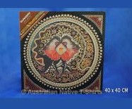 frilled neck lizard aboriginal art