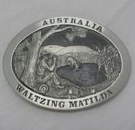 Waltzing Mati;lda Pewter Belt Buckle