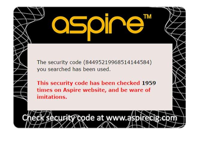 Fake or Cloned Aspire