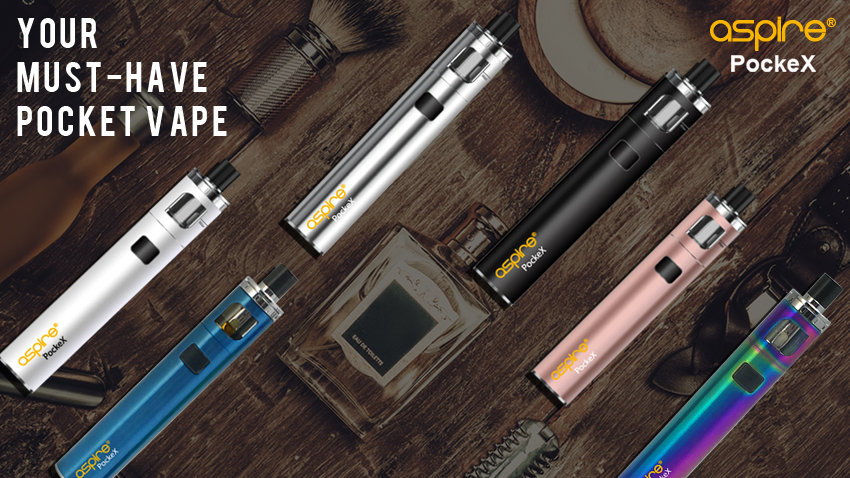 Aspire PockeX is the ultimate pocket All-in-One (AIO) device. Packed with a 0.6Ω stainless steel U-Tech coil, the PockeX is a sub-ohm device. The PockeX has a wider drip-tip and larger top-airflow allowing for increased vapor production.