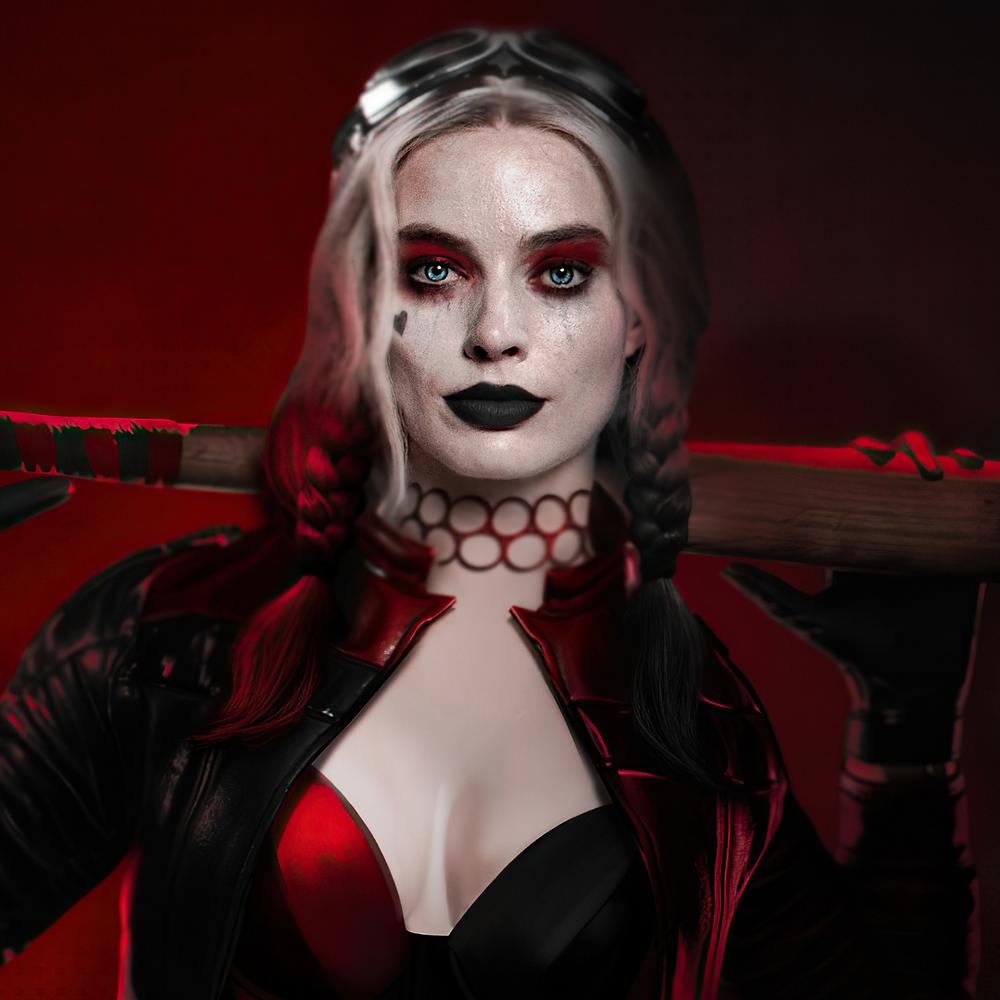 Margot Robbie como Harley Quinn do O Esquadrão Suicida de 2021