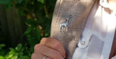 Standing Stag Brooch/Candle/Tie Pin