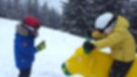 Majd a síoktató megvédi a bikát a síoktatás alatt - oZone Skiing