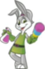 Dust Bunny with a Spray Bottle