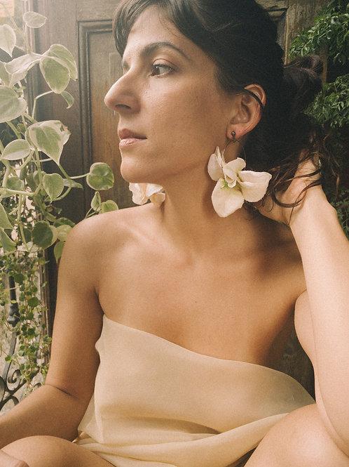 Brincos Argolas Bouganvile - Flor de Laranjeiras