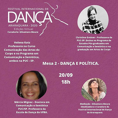LIVE: Dança e política