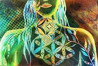 Throat Chakra Geometry Art Brony Marshall Bronwyn Marshall