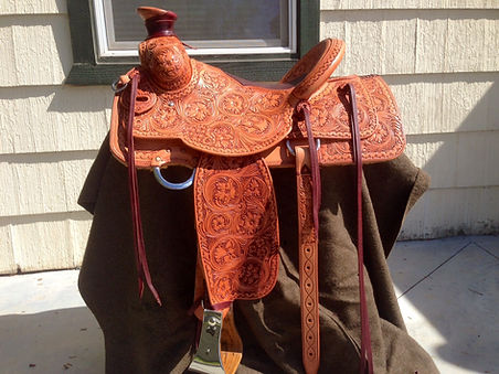 Fully carved Luellen custom saddle