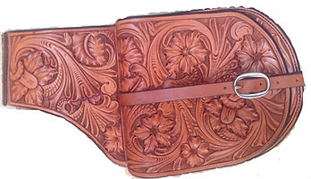 Leather Carved saddle bags