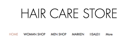 Online Shop  -  www.haircarestore.ch