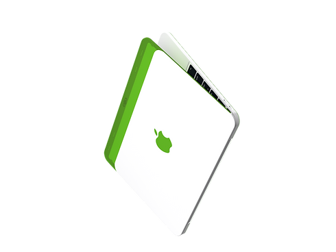 Apple MacBook colorful translucent iBook G3 redesign concept colors bondi blue green blueberry tangerine lime strawberry grape