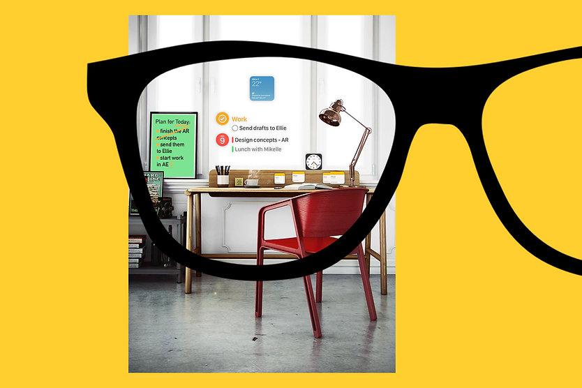 Juraj Kusy Design Designed by jk for Apple multitasking concept design AR glasses augmented reality headset UX UI
