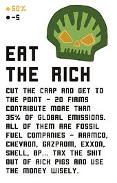 Eat The Rich card game board game environmental climate anxiety eco design indie game developer