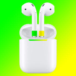 AirPods green yellow