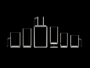 glass set for Zichovec design by juraj kusy