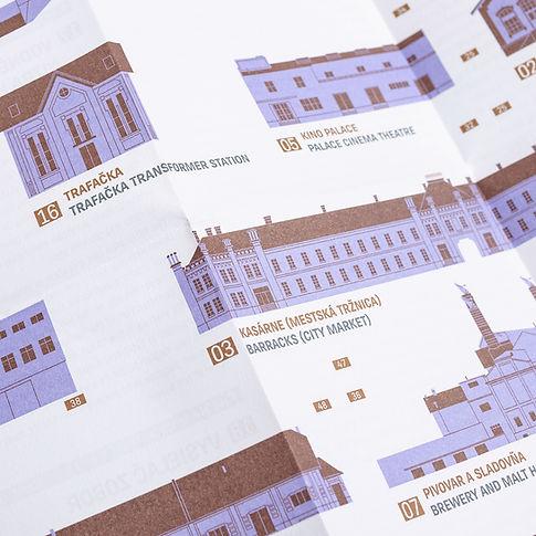 Mapa technických pamiatok Nitry Čierne diery Juraj Kusy technické pamiatky nitra slovenský dizajn Nitra2026