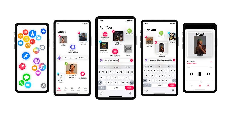 iOS redesign concept rethinking nextOS iOS 15 16 iPhone new user interface designed by Juraj Kusy for Apple Alan Dye Mark Gurman demo