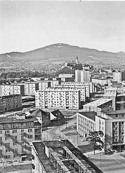 Architekt Michal Maximilián Scheer sídlisko Párovce moderná architektúra Nitra kedysi pôvodné foto