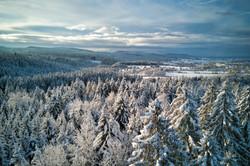 Paysage Haut Jura neige