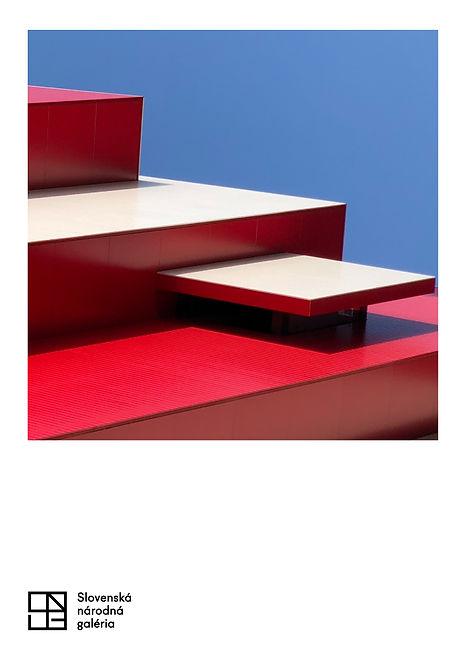 architekt Vladimír Dedeček Slovenská národná galéria depozitár grafika premostenie SNG Bratislava moderná architektúra print plagát