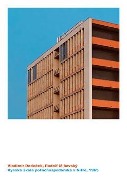 architekt Vladimír Dedeček aula SPU slovenská poľnohospodárska univerzita v Nitre vysoká škola poľnohospodárska Moderná architektúra 20. storočie