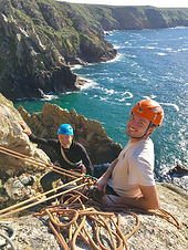 Roc Climbing in Cornwall