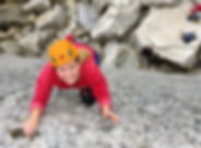 beginner rock climbing