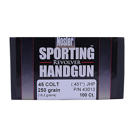 45 Colt 250gr JHP (100 ct)