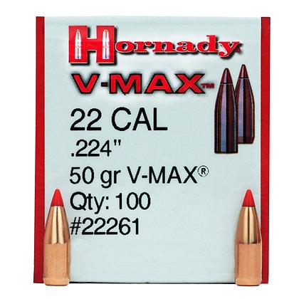 22 Cal .224 50gr VMAX /100