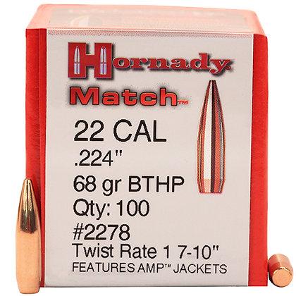 22 Cal .224 68gr BTHP Match /100