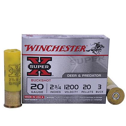"""SupX 20ga 2.75"""" Buck Shot/5"""