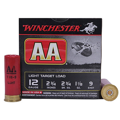 """12Ga. 2.75"""" 9-Shot Target/25"""