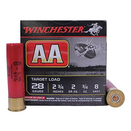 """AA Target Load 28ga 2 3/4"""" 8 Shot"""