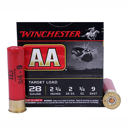 "AA 28ga 2.75"" 9-Shot Target/25"