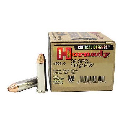 Ammo 38 Spcl 110gr Ftx Cd/25