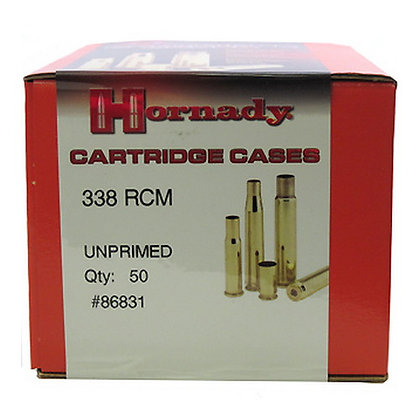 338 RCM Unprimed Brass /50