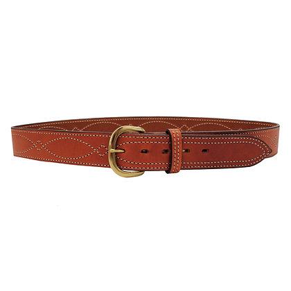 """B9 Fancy Stitched Belt Tan  46"""""""