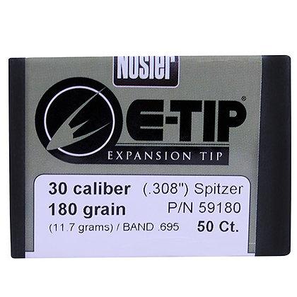 30 Cal 180gr  E-Tip (50 ct)