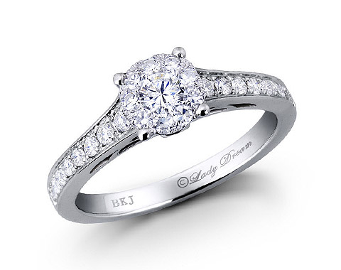 18k white gold 0.85ct outlook Lady Dream diamond ring DDR00145-7
