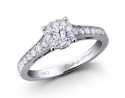 18k white gold 0.85ct outlook Lady Dream diamond ring DDR00145-7