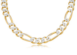 Two Tone Gold Figaro Chain