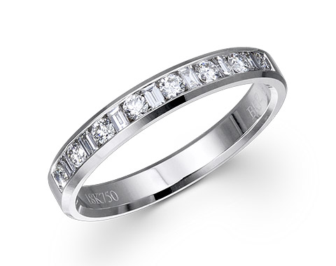 18k white gold 0.50ct channel set premium wedding band DDR01608-7