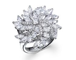 18k white gold 2.65ct total weight swirl diamond ring DDR24460-7