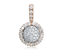 18k rose gold 3.00ct outlook Lady Dream + 20DD0.68CT diamond pendant