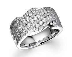 18k white gold 1.32ct total weight woven diamond ring DDR24448-7