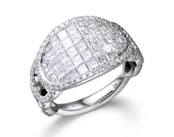 18k white gold 2.27ct total weight invisible set diamond ring DDR24004-7