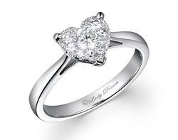 18k 1.50ct outlook heart shape Lady Dream diamond ring DDR01116-7