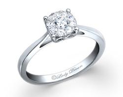 18k white gold 1.25ct outlook Lady Dream diamond ring DDR00122-7