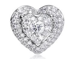 18k white gold 1.0ct outlook heart shape Lady Dream + 66D0.27ct diamond pendant