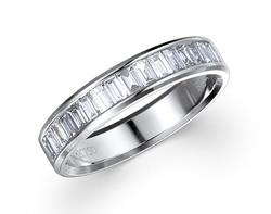 18k white gold 0.33ct channel set diamond edge premium wedding band DTR01599-7